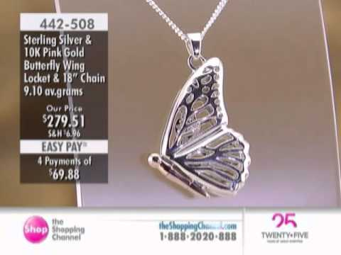 co butterfly sterling lockets locket visuall momento necklace shaped heart silver