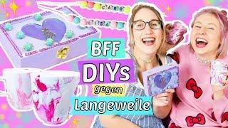 3 BFF DIYs gegen LANGEWEILE selber machen 😍DIY Ideen für die beste Freundin 💝BASTELN & HACKS