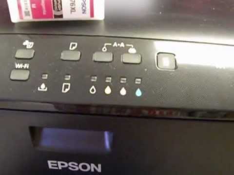 how to clean the nozzle on a epson workforce printer
