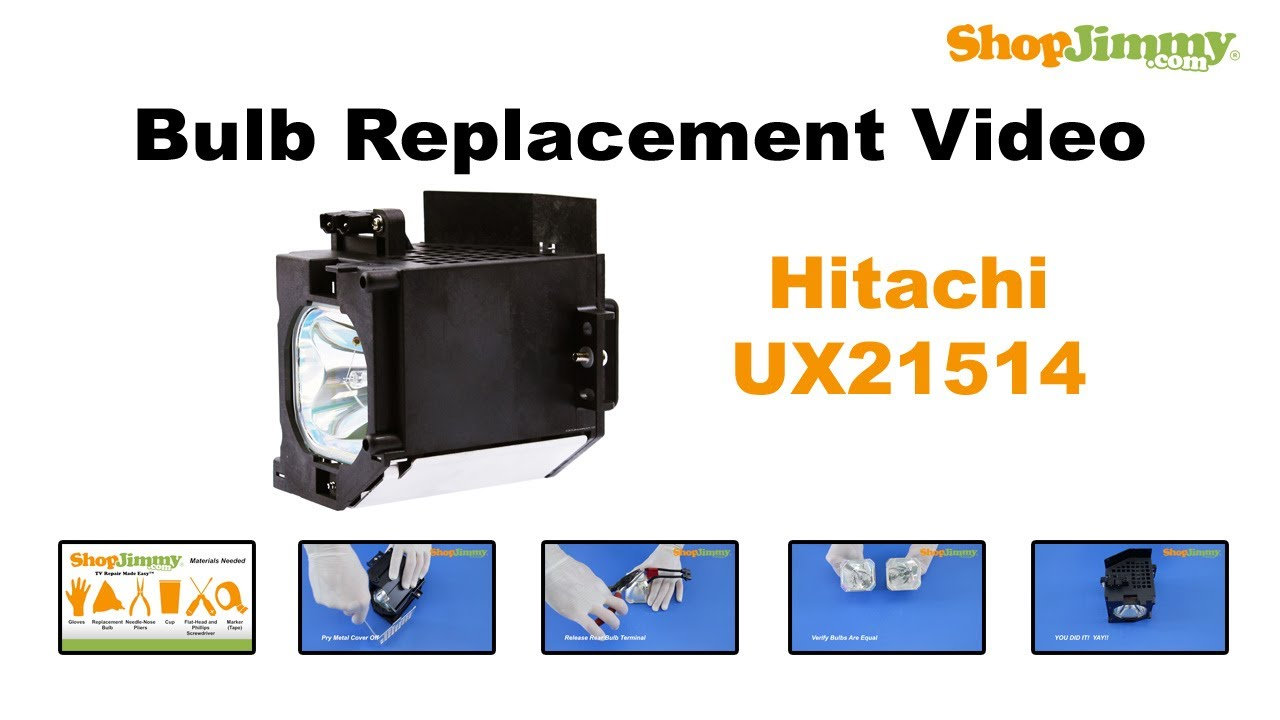 Beautiful Hitachi UX21514 Bulb Replacement Guide For DLP TV Lamp