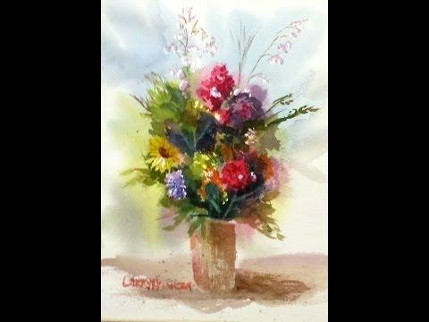"Paint Along with Larry Hamilton - Nov. 6, 2013 - Watercolor - ""Vase of Flowers"""