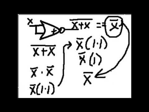 Demorgan Nor Gate Inverter Complete Boolean Proof