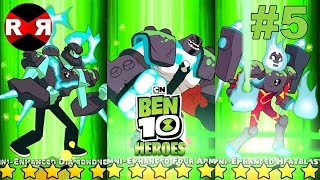 NEW OMNI ENHANCED ALIENS in HERO MODE! Ben 10 Heroes - iOS / Android Gameplay Part 5