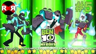 NEW OMNI ENHANCED ALIENS in HERO MODE! Ben 10 Heroes - iOS / Android Gameplay Part 5