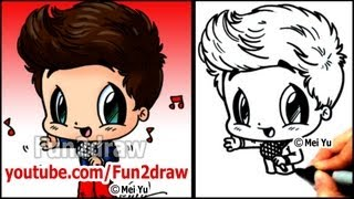 One Direction Cartoon - Louis Tomlinson - How to Draw 1D People