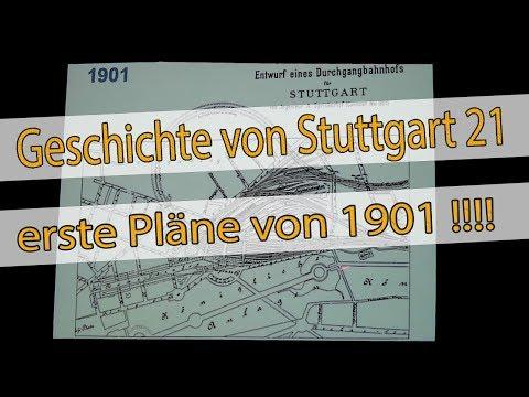 Geschichte von Stuttgart 21 - erste Pläne von 1901! #S21 #stuttgart21