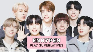 ENHYPEN Reveals Who's The Best Dancer Who Takes The Most Selfies And More | Superlatives | Seventeen