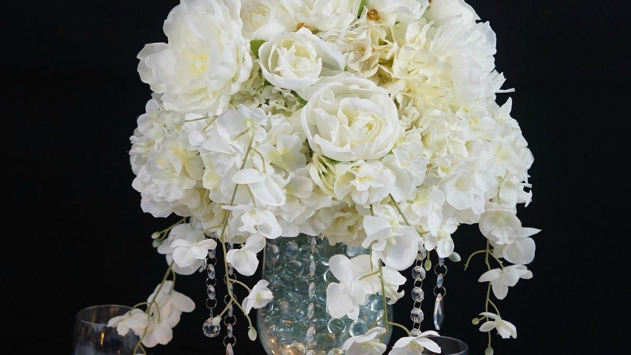 Diy Tutorial Heavenly Dream Winter Wedding Centerpiece Youtube
