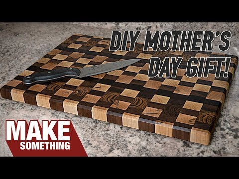 End Grain Cutting Board From Scraps | Great Mother's Day Gift!