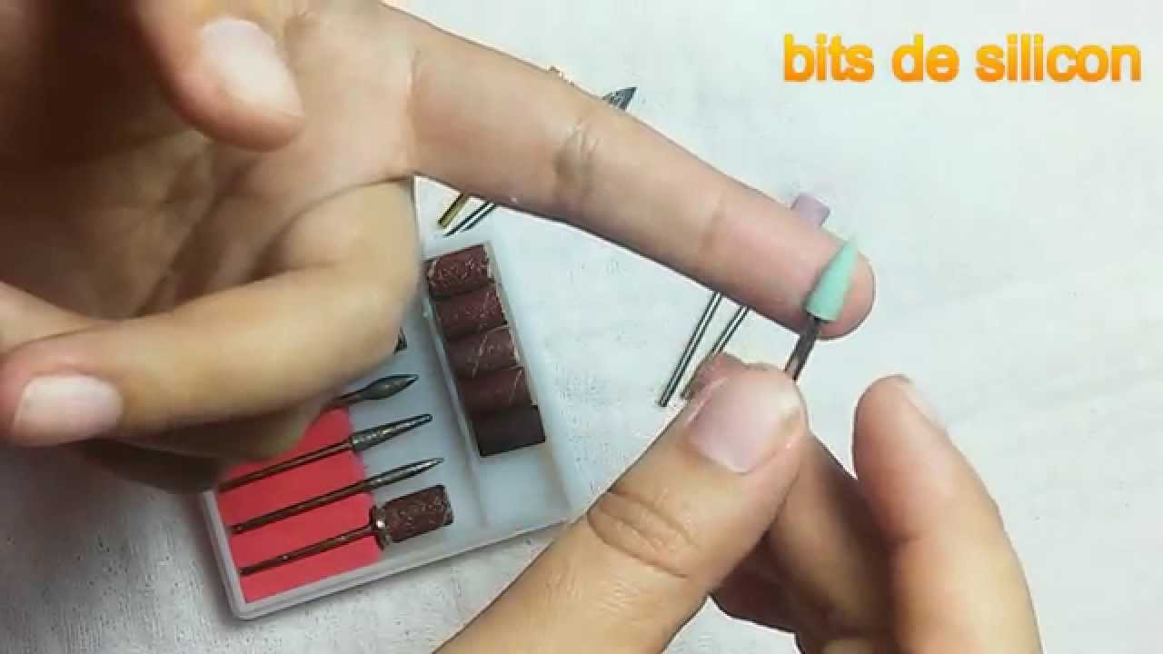 bits o puntas para la maquina pulidora de uñas acrílicas - YouTube