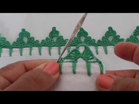 Bico de crochê pinheirinho bem facil para iniciantes