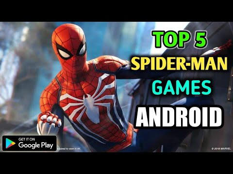 [offline/online] TOP 5 SPIDER-MAN GAMES FOR ANDROID 2020    HIGH GRAPHICS AND HIGH QUALITY GAMES