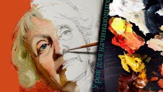 Как правильно начинающим писать портрет маслом на холсте? Урок с Сергеем Гусевым.