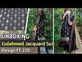 New GUL AHMED Designer Jacquard Suit 2019 | Unbox | Latest Pakistani Dress Design FE 220