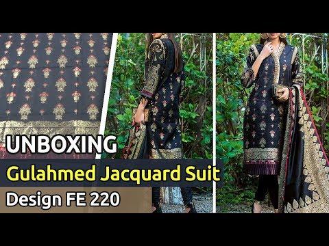 60636c10f3 New GUL AHMED Designer Jacquard Suit 2019 | Unbox | Latest Pakistani Dress  Design FE 220 - YouTube