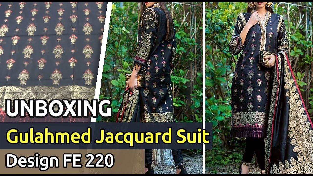 1f45bdd9de New GUL AHMED Designer Jacquard Suit 2019 | Unbox | Latest Pakistani ...