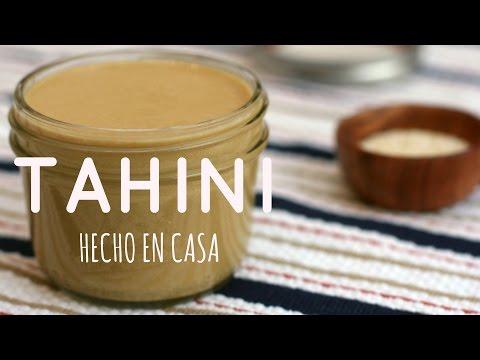 TAHINI HECHO EN CASA! {Mantequilla de Ajonjolí} - Receta Fácil y Saludable!