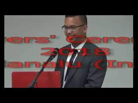 Mario Manulu from Indonesia - Leavers' Ceremony June 2018