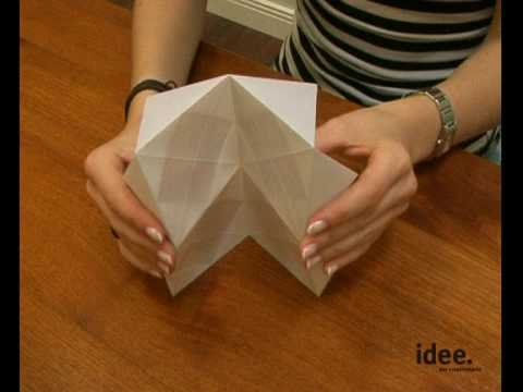idee tipp nr 015 origami lampenschirme youtube. Black Bedroom Furniture Sets. Home Design Ideas