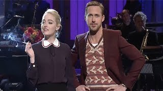 Ryan Gosling & Emma Stone MOCK La La Land On SNL - Ryan Breaks Character