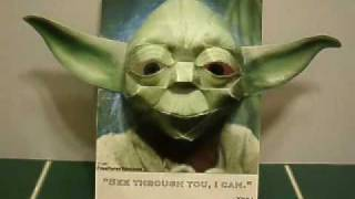 Papercraft 3D Yoda Illusion - he's watching you!