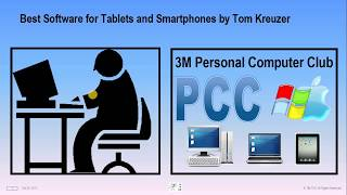 PCC Meeting October 20, 2017 -  Best Software for Tablets and Smartphones