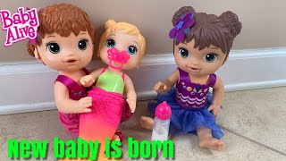 Baby Alive Mermaid is Born Lealas New baby Sister