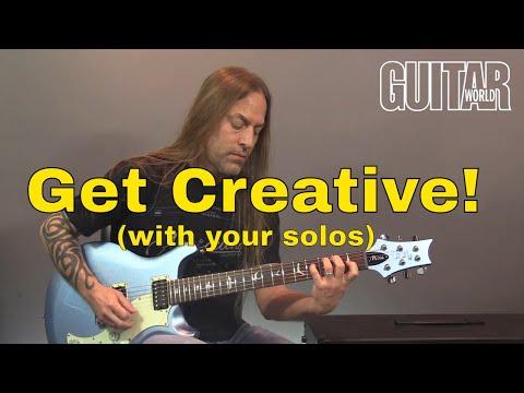 How Make Your Guitar Solos More Creative | Steve Stine Guitar Lesson