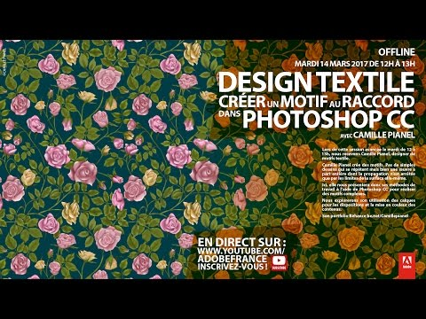 Tutoriel Design textile Photoshop : créer un motif au raccord | Adobe France