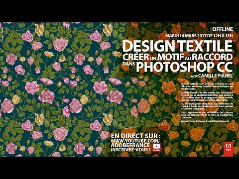 Tutoriel Design textile Photoshop : créer un motif au raccord |Adobe France