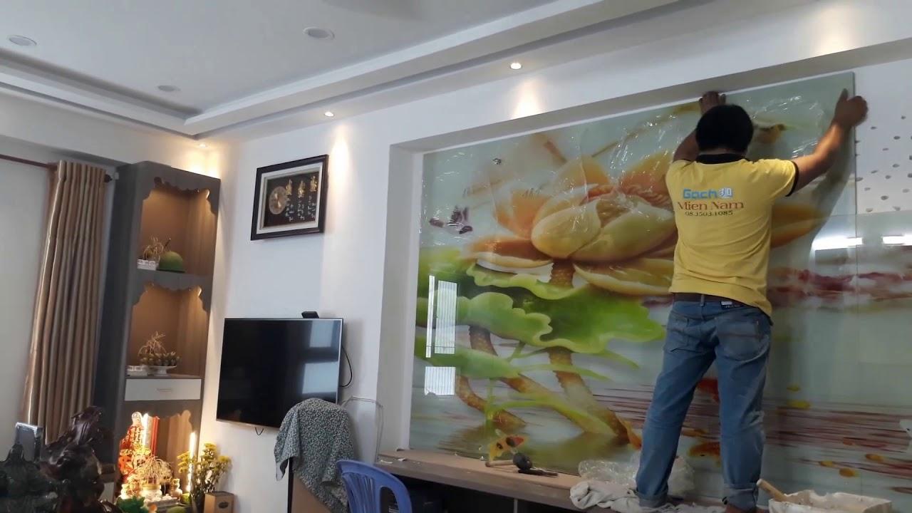 Gạch tranh 3d ốp Tường Phòng khách tại Tân Phú HCM