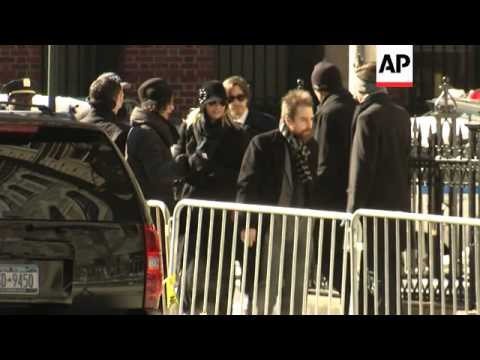 actor friends showed up in droves for Philip Seymour Hoffman's funeral on Friday in New York, among