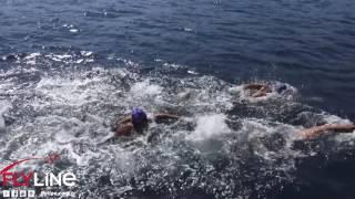 Samsung Kıtalar arası yüzme yarışı drone kaydı