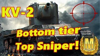 KV-2 || Bottom tier, Top Sniper! Ace Mastery (World of Tanks Console)