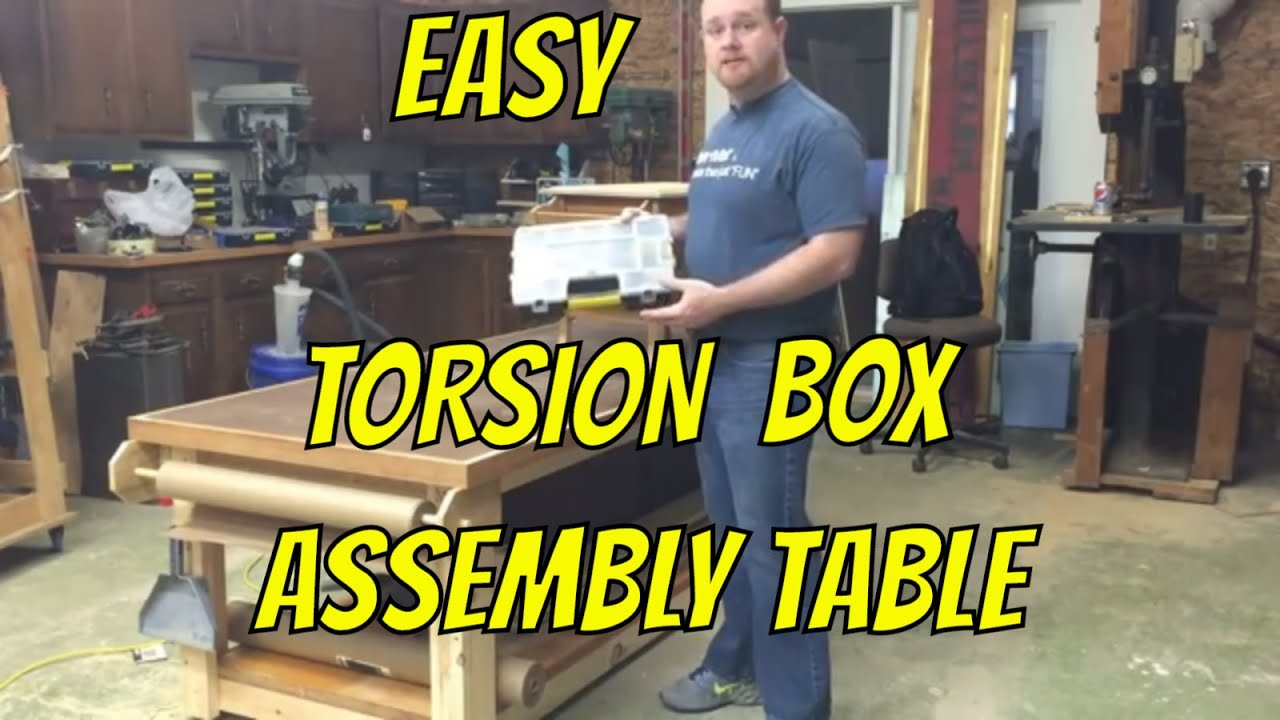 Assembly Table Made Using Hollow Core Doors For A Torsion Box Ep2