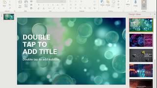 PowerPoint 365 Video background - Design ideas update