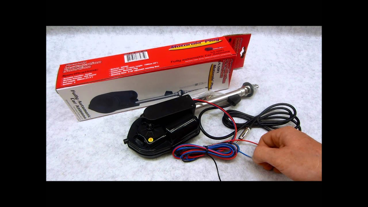 How to wire an automotive power antenna  YouTube