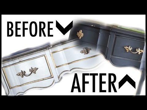 DIY Entry Table Makeover (How to use Chalk Paint on Furniture)