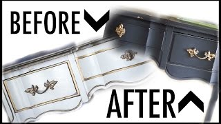DIY Entry Table Makeover | How to Chalk Paint Furniture(Sorry this video is up later than usual! I bought some furniture from the thrift store, but the pieces need makeovers! In this tutorial, I show how I use chalk paint to ..., 2016-04-08T21:18:09.000Z)