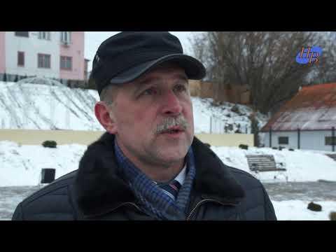 Предварительная приёмка нового сквера в г.Кондрово и бани.