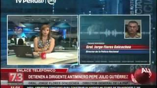 Paro en Arequipa: PNP detalla detención  de Pepe Julio Gutiérrez