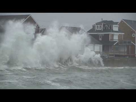 Scituate, MA Noreaster Huge Waves, Storm Surge, and Flooding - 10/27/2018