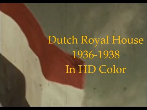 Dutch Royal House 1936-1938 In HD Color