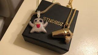 "STNDRDZ UNBOXING & REVIEW - 14k Lab Diamond Iced Double-Cup & ""Ghost"" 14k Lab Diamond Pendant"