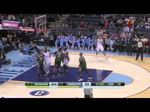 Caron Butler's Long Jumper In Transition   Bucks vs Bobcats   December 23  2013   NBA 2013 2014
