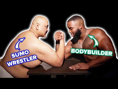 Arm Wrestling: Bodybuilder Vs. Sumo Wrestler