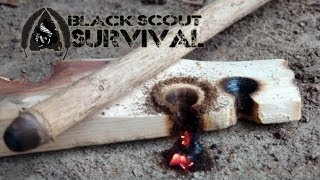 Hand Drill Primitive Fire Making Technique- Black Scout Tutorials