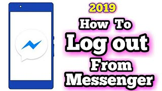 How To Log Out from Messenger Lite 2019 screenshot 4