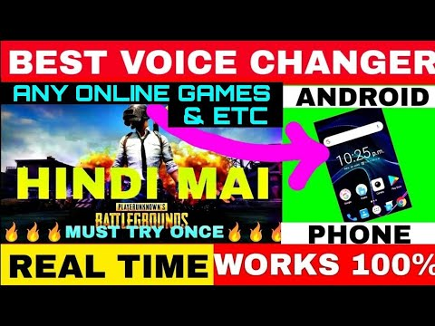 How To Change Voice In Pubg Mobile Voice Changer App For Android Change Voice Like Gareeb IN HINDI