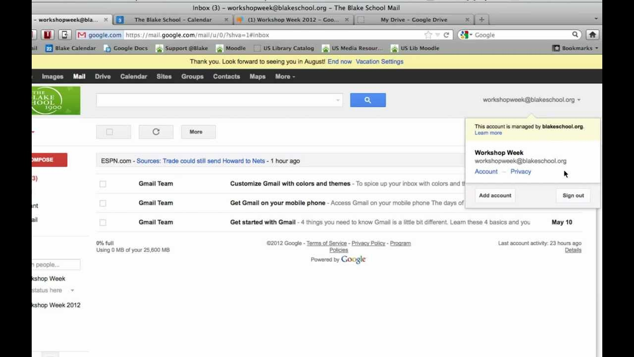 Sign out or Log Out of Google Apps (Gmail, Calendar, Docs, Groups ...